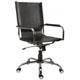 Cadeira em Couro para Escritório Natural Presidente             Giratória Cromada Braço Reto SU1338RTO