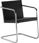 Cadeira aproximação couro sintético Ideale