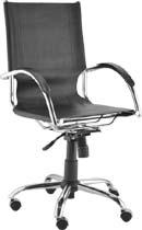 Cadeira presidente couro             natural Ideale