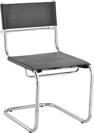 Cadeira aproximação couro natural Ideale