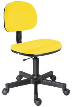 Cadeira amarela secretária giratória