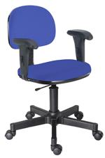Cadeira azul escuro secretária giratória com braços