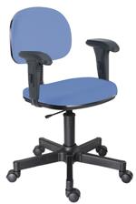 Cadeira azul secretária giratória com braços