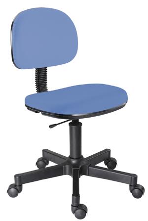 Cadeira azul secretária giratória
