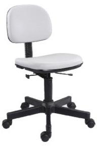 Cadeira branca secretária giratória