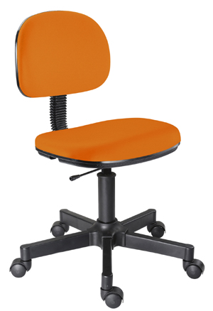 Cadeira laranja secretária giratória