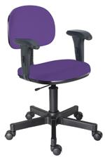 Cadeira lilás secretária giratória com braços