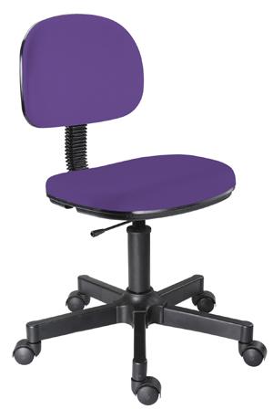 Cadeira lilás secretária giratória