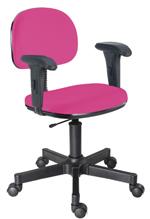 Cadeira pink secretária giratória com braços