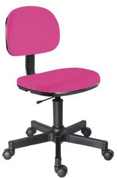 Cadeira pink secretária giratória