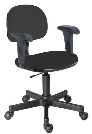 Cadeira preta secretária giratória digitador