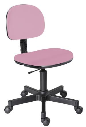 Cadeira rosa bebê secretária giratória