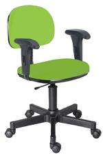 Cadeira verde limão secretária giratória com braços