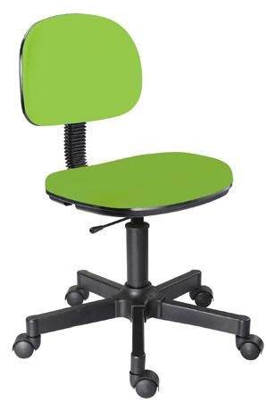 Cadeira verde limão secretária giratória