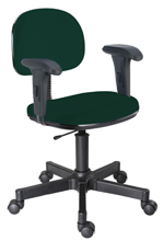 Cadeira verde secretária giratória com braços
