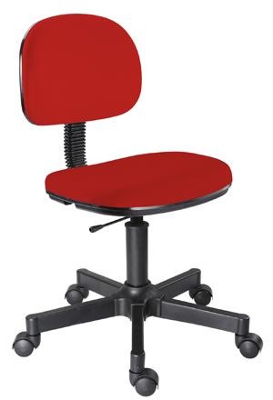 Cadeira vermelha secretária giratória