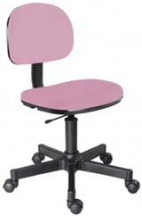 Cadeira rosa secretária giratória