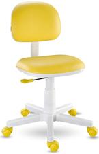 Cadeira giratória kids amarela