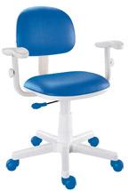 Cadeira kids azul com braços digitador