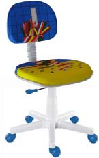 Cadeira Kids lápis azul
