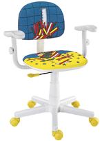 Cadeira lápis azul digitador