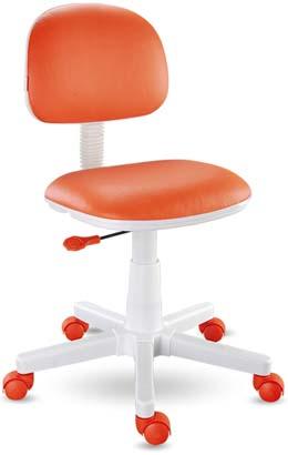 Cadeira giratória laranja Kids