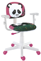 Cadeira kids do urso panda rosa digitador