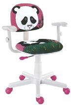 Cadeira kids do urso panda rosa digitador