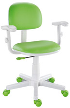 Cadeira kids verde limão com braços digitador