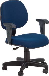 Cadeira  secretária executiva giratória com  braços ECO100.06.BEX.0N.11