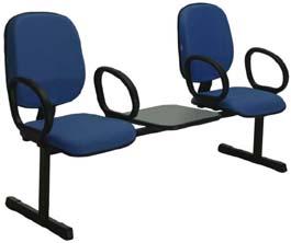 Longarina diretor com mesa 2             lugares e braço
