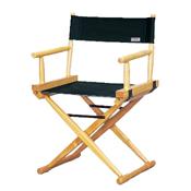 Cadeira Diretor de Cinema Marfim lona preta