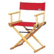 Cadeira Hollywood clássica Lona Vermelha