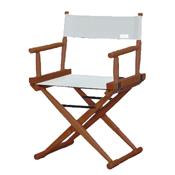 Cadeira Diretor de Cinema Mogno Lona Branca