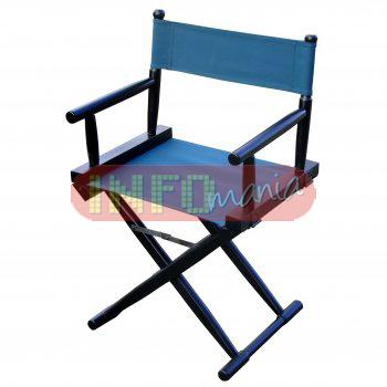 Cadeira diretor de cinema tabaco lona verde