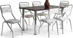 Conjunto mesa e             cadeiras Artri Managua CA 210