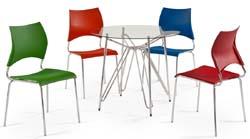Conjunto mesa e cadeiras Artri Paris CA             220 coloridas