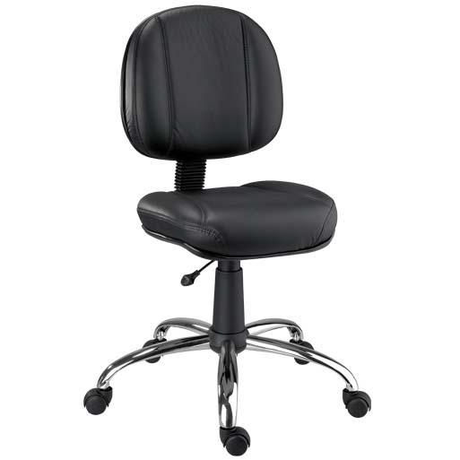 Cadeira Chrome giratória secretária cromada