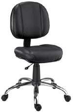 Cadeira Chrome secretária executiva                         giratória cromada