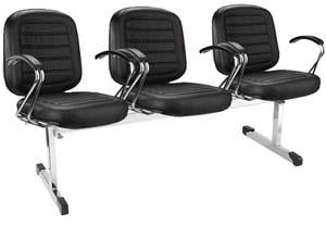 Cadeira Chrome longarina diretor cromada