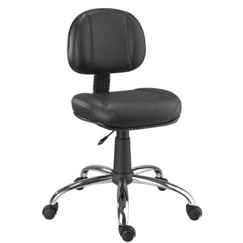 Cadeira Chrome secretária giratória cromada