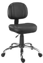 Cadeira Chrome secretária cromada giratória