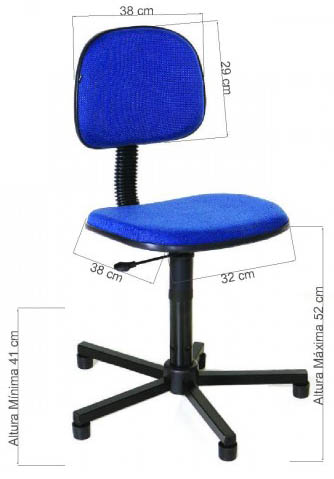 Cadeira             costureira tecido azul