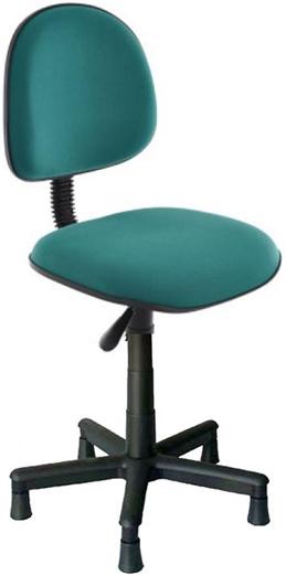 Cadeira costureira tecido verde