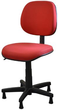 Cadeira para costureira tecido             vermelho