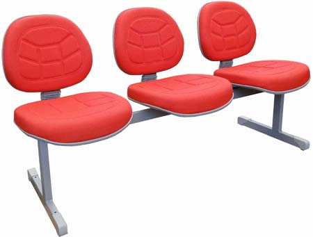 Cadeira costurada longarina secretária executiva