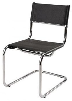 Cadeira couro natural Supreme aproximação cromada SU0487