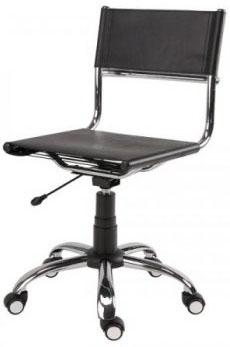 Cadeira             couro natural Supreme giratória cromada SU1206