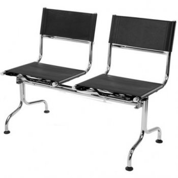 Cadeira             couro natural Supreme longarina 2 lugares SU0085