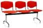 Longarina Evidence Slim cromada                         polipropileno vermelho